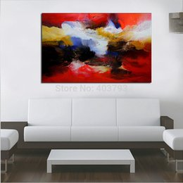 "$enCountryForm.capitalKeyWord Australia - Single Abstract 100% Hand Painted Unframed Modern Oil Painting ""Abstract Colorful Piece"" Wall Art On Canvas For Living Room"