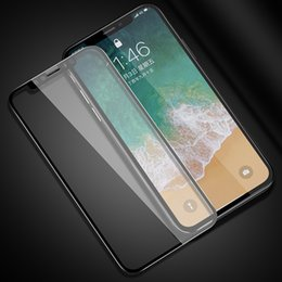 Discount mobile phones coverage - Screen Protector Full Screen Coverage 9 iPhone X Toughened Membrane iPhoneX iPhone8 7lus 6S Mobile Phone Film Wholesale
