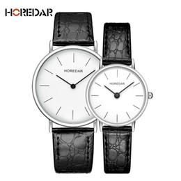 3c90101dc0df HOREDAR Quartz Watch Lovers Watches Women Men Couple Dress Watches Simple  Leather Wristwatches Fashion Casual Clock 2017