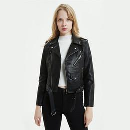 $enCountryForm.capitalKeyWord UK - Large Size Pu Leather Jacket Women Bright Colors Black Motorcycle Coat Short Faux Leather Biker Jacket Soft Female