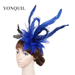 beautiful bridal hair accessories UK - Free shipping multiple colors avaliable charming fascinator hats beautiful bridal hair accessories elegant women wedding party hats FS40