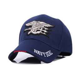 Navy hats online shopping - Curved Eaves Design Snapbacks Embroidery Men Women Navy Seals Caps Three Colors Movement Sun Hat Factory Direct Sale kb BB