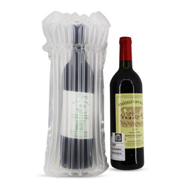 $enCountryForm.capitalKeyWord UK - PE Bag 32*8cm Air Dunnage Bag Air Filled Protective Wine Bottle Wrap Inflatable Air Cushion Column Wrap Bags QW8326