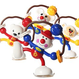 Small cartoon couple online shopping - Sucker Bell Animal Twisting Show Newborn Baby Toy Wriggle Funny Hand Couple Intelligence Developmental Plastic Small al V