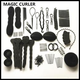 Magic Sponge Hair Curlers Australia - MAGIC CURLER 20 models automatic hair sponge bun braider Sets DIY Hair Twist Styling Tool For women hairstyles Elastic Rubber