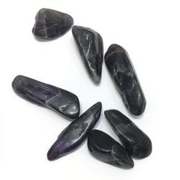 $enCountryForm.capitalKeyWord NZ - 200g Purple tumbled Stone gravel Dream amethyst violet Crystal Healing Chakra Specimen raisin Natural Minerals Chips Quartz for Gifts