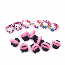 a6c6ed6c4 10Pcs Lot Cartoon Girls Headbands Hello Kitty Pink Kids Elastic Hair Bands Children  Hair Accessories Headwear Hair rope