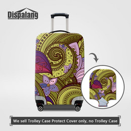 $enCountryForm.capitalKeyWord NZ - Elastic Stretch Luggage Cover For Women Waterproof Rain Dust Case On Suitcase Abstract Flower Printing Travel Accessories For Teenage Girls