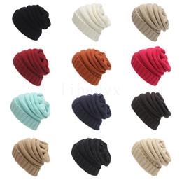 Venta caliente Padres Niños Sombreros Bebé Mamás Sombreros de Punto de  Invierno Capuchas Calientes Cráneos Capuchas bc48cc9bf20