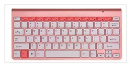Discount keyboard for apple tv English 2.4G Ultra-Thin Chocolate Key Wireless Keyboard Mouse Combos for Apple Style Mac Pc Window XP 7 8 10 Smart Tv Bo