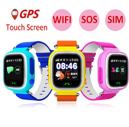 touch screen wrist Australia - Child GPS Wifi Location Smart Watch Q90 SOS Call Touch Screen Device Tracker for Kid Baby Safe Anti-Lost Monitor PK Q80 Q750 Q50