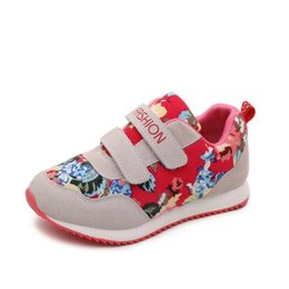 Sneaker Baby Flower Canada - Kids Shoes New Fashion Baby Girls Sneakers Flowers Sport Sneakers Children Ultra-light Comfortable Shoes Flat