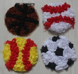 $enCountryForm.capitalKeyWord NZ - 10y 140pcs 2.5 inch mix chiffon baseball,softball,soccer,football,basketball flower for girls hair and clothing accessories