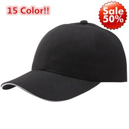 $enCountryForm.capitalKeyWord NZ - 15 Color!! Summer Fashion Soild Women Men Baseball Cap Snapback Hat HipHop Adjustable Cool Sunhat casquette gorras Lowest Price