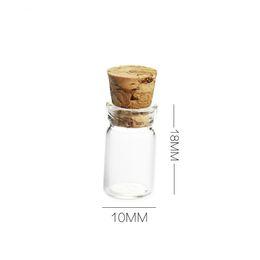Wholesale miniatures glass bottles online shopping - 0 ml Vials Clear Glass Bottles with Corks Miniature Glass Bottle Sample Jars