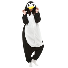 Animal Halloween Costumes For Women NZ - Penguin Women and Men Animal Kigurumi Polar Fleece Costume for Halloween Carnival New Year Party welcome Drop Shipping