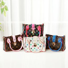 Discount purses girls - Kids Handbags 2018 Newest Fashion Kids Girls Princess Purses Teenager Girls Classic Old Flower Printed Shoulder Bags Chi