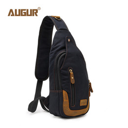 7ebae7296e76 AUGUR 2018 Brand Shoulder Crossbody Chest Bag Men Sling Bags For Women Men  Fashion Casual Canvas Vintage Bag For Phone Pouch