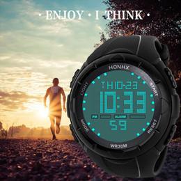 Men Digital Wrist Watches Australia - Digital Sport Watch Luxury Men Analog Digital Army LED Waterproof relogio Wrist Watch 2018
