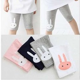 $enCountryForm.capitalKeyWord NZ - Rabbit Printed girls knee length Pants kids pants clothing children's summer cool Cartoon Printing leggings MU985894