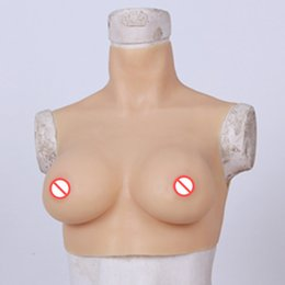 Crossdresser breast form online shopping - C Cup Huge Fake Boobs Realistic Artificial Silicone Breast Form Natural Breast Enlargement For Crossdresser Shemale Sissy Boy Transvestite