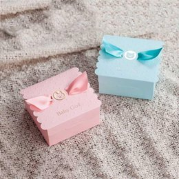 Candy box favor baptism online shopping - Creative Baby Shower Baptism Favor Gift Boxes Baby Birthday Party Candy Boxes For Baby Kids LX3933