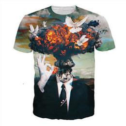 Wholesale Free Shipping Men Top 3D Sublimation Dog Animal Bomb Full  Printing Custom Hip Hop T Shirts 3b4d05e56