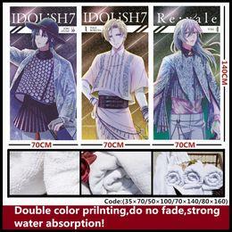 Venta al por mayor de Anime / IDOLiSH7 IZUMI IORI / NIKAIDO YAMATO / IZUMI MITSUKI / YOTSUBA TAMAKI / OSAKA SOGO / ROKUYA NAGI / MOMO / YUKI Toalla / toalla suave y cómoda