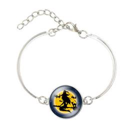Großhandel 2018 Halloween Hexe Armband Mond Armband Vintage Süßes oder Saures Kürbis Schädel Männer Frauen Urlaub Schmuck Kinder Geschenke