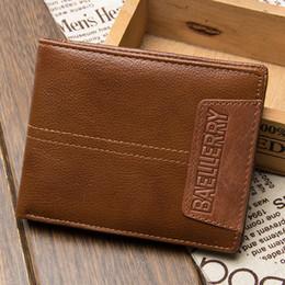 $enCountryForm.capitalKeyWord NZ - Men Genuine Leather Business Short Wallet Bifold Wallets Coin Cowhide Purse Card Holder 2 Style R072