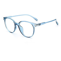 4bff10f8d6 Vintage Oversize Blue Transparent Eyeglass Frames Full Rim Glasses  Spectacles Brand New come with clear lenses myopia Rx able