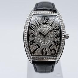 Completa strass pulseira de couro de quartzo analógico digital de luxo homens relógio de grife dropshipping mens relógios frete grátis presentes homens relógio de pulso venda por atacado