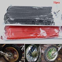 motorcycle spokes UK - For KTM Supermoto Motocross 350 450 500 Motorcycle Dirt Bike Wheel Rim Spoke Skins Covers Wrap Tubes Decor Protector 72 pcs