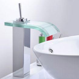 $enCountryForm.capitalKeyWord NZ - Waterfall Style Brass Basin Deck Mount Bathroom Faucet Tap Vanity Vessel Sinks Mixer Waterfall Faucets