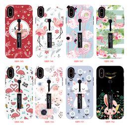 $enCountryForm.capitalKeyWord Australia - Kickstand Phone case anti Skid slide Ring holder Pianting phone cases TPU PC back cover for Samsung S9 S9 plus S8 S8 plus