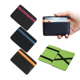 $enCountryForm.capitalKeyWord NZ - Brand Men's magic wallets money clip clutch  bag casual clip for money women purse 10*7*0.8cm