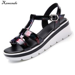 $enCountryForm.capitalKeyWord NZ - Xemonale 2018 Summer Women Sandals Black Flat Platform Sandals Women Wedge Beach Flip Flops Ladies Flat Heel Gladiator Sandals