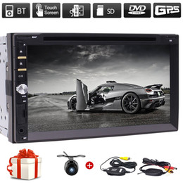 "phone maps NZ - Wireless Backup Camera+7"" Double Din Car Radio in Dash FM AM GPS Navigation Car DVD Player Headunits Bluetooth Subwoofer USB SD SWC+Map"