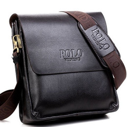 Discount polo shoulders - Men Polo Messenger Bags Pu Leather Men's Crossbody Bags Brand Quality Shoulder For Men Handbags Business Briefcases