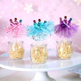 Discount decor dress - 4 Colors Princess Dress Crown Cupcake Topper Wedding Decoration Centerpieces Kitchen Accessories Home Decor Party Suppli