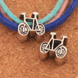 Bike flowers online shopping - 120pcs Dots Bicycle Bike Metal Big Hole Beads x11x6 mm Antique Silver Fit European Charm Bracelets Jewelry DIY L1409