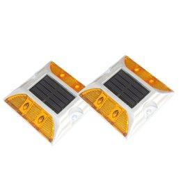 Fronnor Солнечный поднятый тротуар маркер высокая яркость IP68 Водонепроницаемый солнечный отражатель дорожный контур Солнечный мигалка свет