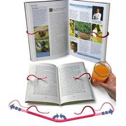 Fermalibri pieghevole Bookshelf Lazy People Book Clip Reader Mani libere strumento di lettura Bookend Book Holder Materiale Offices Forniture 2 colori