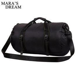 large duffel bag women UK - Mara's Dream Men travel bag large capacity can fold Men hand travel bag trend casual high quality Polyester and Women