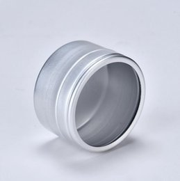 wholesale metal bottle caps NZ - 40g empty skin care cream aluminum containers with window cap,metal aluminum jar window lid ,metal bottle tin pot can LX1248