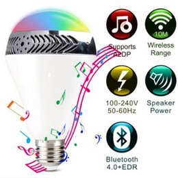 energy speakers NZ - LED sound bulb intelligent wireless remote control Bluetooth speaker energy saving through the phone connection control colorful