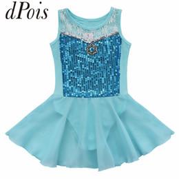diamond leotard 2019 - DPOIS Kids Sequin Diamond Princess Ballet Tutu Dance Skirt Leotard Dress Fancy Costume Ballerina Party Girls Gymnastics