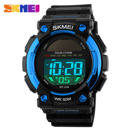 sports watches solar Canada - Hot manufacturers wholesale fashion outdoor sports waterproof solar multifunctional men's watch