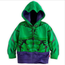Wholesale Children s Cartoon Jacket For Baby Boys Hot Sale Animated Hero Hulk Hooded Zipper Long Sleeve Top Coat Clothes Kids Clothing Y