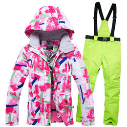 Womens Snow Jackets Australia - Brand Womens Ski Suits Pink Waterproof  Breathable Windproof Female Snow Jacket e6d79e0ff